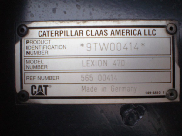 Claas CAT Lexion 470